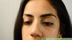 image led make a black eye with makeup step 2