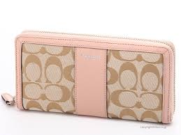 Coach wallet 50879 rubx COACH signature large zip around, SVC9L wallet