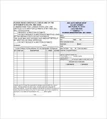 repair invoice template auto repair invoice templates 12 free word excel pdf format