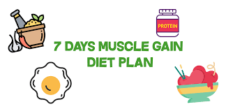 Diet Chart For Muscle Building Follow This Muscle Gain Diet Plan For 7 Days Health Shala
