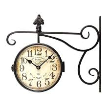 double sided outdoor clock round double sided wall hanging clock large double sided outdoor clock