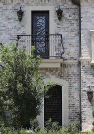 Light Grey Brick House Old Texas Brick Charcoal Antique Qs White Mortar Light