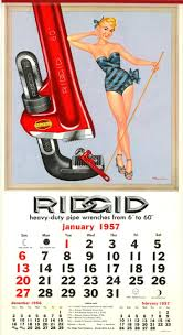 calender tools ridgid tools calendar 1957 google search pin up calendar girls