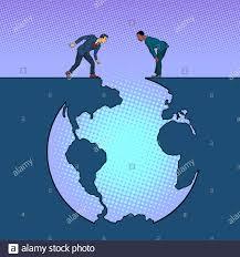 La humanidad y el planeta Tierra, Ecología Imagen Vector de stock - Alamy