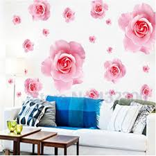 big pink roses flowers vinyl wall stickers home