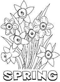 Coloring Sheets For Spring Spring Flowers Coloring Pages Colouring