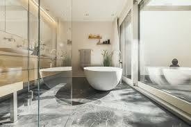 Badezimmer Mit Begehbarer Dusche Stock Photo