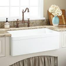 White Apron Kitchen Sink 30 Baldwin Fireclay Farmhouse Sink Decorative Lip White Kitchen