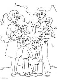 Small Picture Family Coloring Pages Free Coloring Coloring Pages