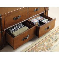 Steamer Trunk Furniture Riverside Latitudes Steamer Trunk Tv Console Aged Cognac Wood