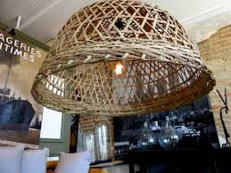 can help you make this wicker basket chandelier