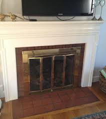 Image Fireplace Mantel How To Paint Outdated Tile Around Fireplace Instead Of Replacing It Pinterest How To Paint Outdated Tile Around Fireplace Instead Of Replacing