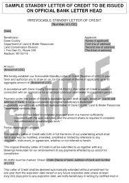 sample letter of credit filings com learning center sample letter of credit