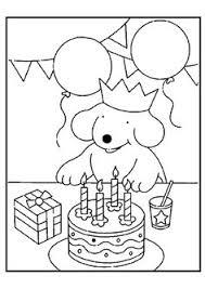 Kleurplaat Pompom Verjaardag Thema Feest Allerlei T