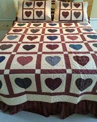 Hearts Multicolor Quilts - Country Quilts by Choice Quilts & Hearts Multicolor Full Adamdwight.com