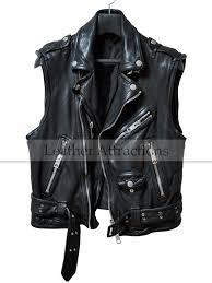 men s biker style zipper leather vest 219 00 159 00