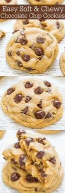 easy soft and chewy chocolate chip cookies averie cooks big bakery style cookies made in one bowl and no mixer required