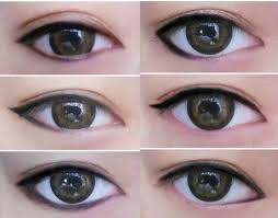 anese s with makeup collage as you can see the way you apply eyeliner can really change the shape of your