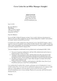 Resume Samples Office Administrator Cover Letter Sample Office