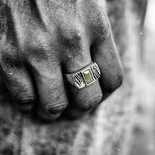 Groene Maloney Ring Moody Mason Op Voorraad
