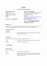 Mechanical Engineering Student Resume Lovely Resume Format For