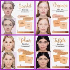 Color Chart For Our Touch Mineral Foundation Line Skin