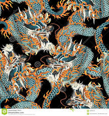 Dragon Pattern Inspiration Japanese Dragon Pattern Stock Illustration Illustration Of Drawing