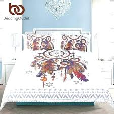 watercolor comforter set hipster bedding queen size feathers duvet cover bohemian printed bed 3 striae dimensions