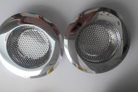 hihamer set of 2 stainless steel kitchen sink strainer filter with