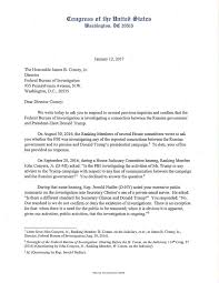 House Judiciary Democrats Letter to FBI Director Comey On Trump  Investigation