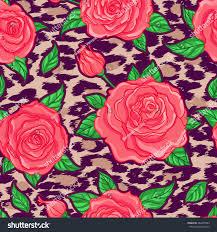 Fusion Floral Design Seamless Elegant Vintage Floral Pattern Over Stock Vector