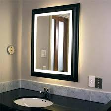 lighting in a bathroom. Vanity Mirror With Cabinet Lighting Bathroom Vanities Mirrors And Led Lights Illuminated In A N