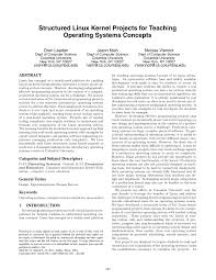 Distributed Operating Systems Concepts And Design Pdf Download Pdf Structured Linux Kernel Projects For Teaching Operating