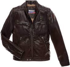 blauer usa biker winter leather jacket men jackets fashion brown blauer jackets italy unique
