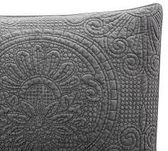 Velvet Medallion Quilt & Sham - Flagstone   Pottery Barn &  Adamdwight.com