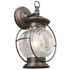 portfolio caliburn 13 62 in h oil rubbed bronze outdoor wall light