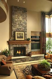 indoor stone fireplace ideas best faux designs stone fireplace with tv natural fireplaces