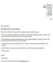 Gallery Of Retail Sales Assistant Cover Letter Example Job Hunt