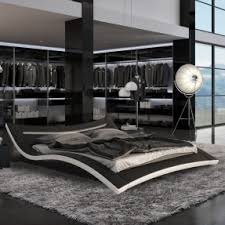 contemporary black bedroom furniture. Seducce Modern Black King Bed With LED Lighting Contemporary Bedroom Furniture O