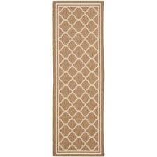 courtyard brown bone 2 ft x 10 ft indoor outdoor runner rug