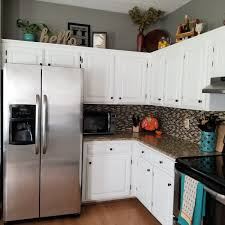 How To Decorate Above Kitchen Cabinets Our Home Kitchen Space