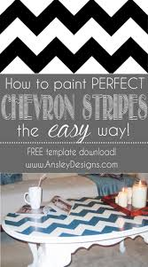 chevron painted furniture. how to paint chevron stripes painted furniture