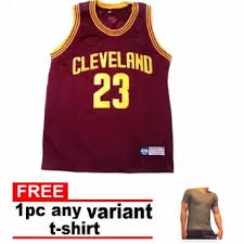 T-shirt Free maroon Fashion Color Jersey Pearly Adult 23 Variant Sando W Nba Cavs