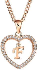 Crystal Necklace Designed Exclusively For Heart Shape With A Letter