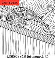 coloring book page for s coloring cat page for s funny baby kitten sleeping on the pillow hand drawn