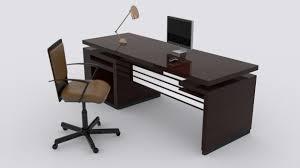 office table models. Modern Desk 3d Model Office Table Models