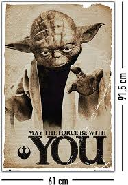 Amazon.de: Star Wars Poster Yoda May the Force be with You (61cm x 91, 5cm)  + Ü-Poster
