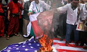 Indonesians burn US flags in 4th day of Jerusalem protests | Daily ...