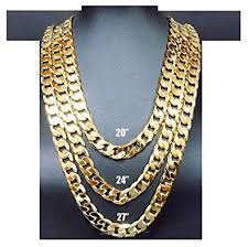 14k gold chain necklace 9mm smooth cuban curb link tarnish resistant fashion jewelry usa patented amazon