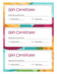 microsoft word birthday coupon template birthday gift certificate template free printables pinterest